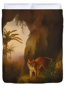 Tiger In A Cave Duvet Cover