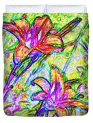 Tiger Lillies Duvet Cover