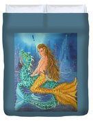 Tiger Lily Tails Duvet Cover