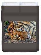 Tiger Nap Time Duvet Cover
