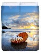 Tiger Nautilus Sunrise Duvet Cover