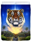 Tiger Of The Lake Duvet Cover