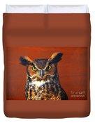 Tiger Owl Duvet Cover
