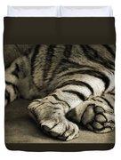 Tiger Paws Duvet Cover