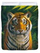 Tiger Pool Duvet Cover