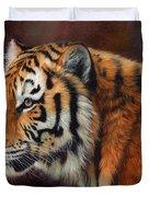Tiger Portrait  Duvet Cover by David Stribbling