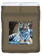 Tiger Posing Duvet Cover