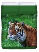 Tiger Profile Duvet Cover
