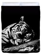 Tiger R And R Black And White Duvet Cover