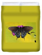 Tiger Swallowtail Butterfly, Dark Phase Duvet Cover