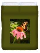Tiger Swallowtail Feeding Duvet Cover