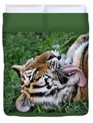 Tiger Tongue Duvet Cover by Dan Sproul