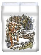 Tiger View Duvet Cover