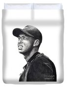 Tiger Woods Driven Duvet Cover by Devin Millington