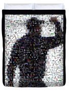 Tiger Woods Fist Pump Mosaic Duvet Cover