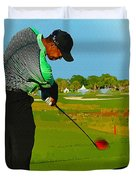 Tiger Woods  - Second Round Of The Honda Classic Duvet Cover