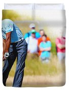 Tiger Woods - The British Open Golf Championship Duvet Cover