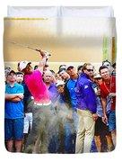 Tiger Woods - The Waste Management Phoenix Open At Tpc Scottsdal Duvet Cover