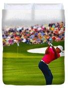 Tiger Woods - The Waste Management Phoenix Open  Duvet Cover