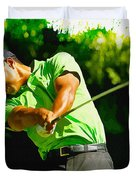 Tiger Woods - Wgc- Cadillac Championship Duvet Cover
