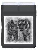 Tigers Photo Art 01 Duvet Cover