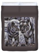 Tigers Photo Art 02 Duvet Cover