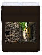 Tight Alley In Stone Duvet Cover