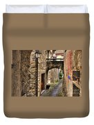 Tight Alley With A Bridge Duvet Cover