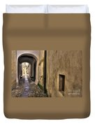 Tight Alley With Arch Duvet Cover