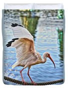 Tightrope Walking Ibis Duvet Cover