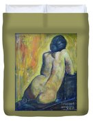 Tiina - Back Of Nude Woman Duvet Cover