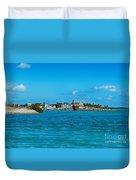 Tiki Bar Islamorada Duvet Cover