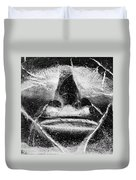 Tiki Mask Negative Duvet Cover
