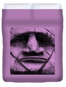 Tiki Mask Pink Duvet Cover