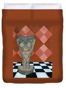 Tiki Statue Art Duvet Cover