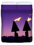 Tiki Torches Duvet Cover