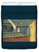 Tile Roofs - Thirsk England Duvet Cover