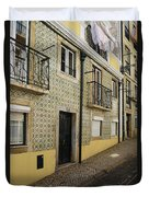 Tile Walls Of Lisbon Duvet Cover