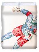 Tim Howard Drawing Duvet Cover