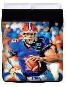 Tim Tebow Mr. Florida Gator Duvet Cover