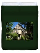 Timber A Frame Cottage Duvet Cover