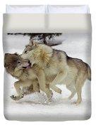 Timber Wolf  Pair Montana Duvet Cover