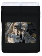 Timber Wolf Pictures 1096 Duvet Cover