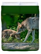 Timber Wolf Pictures 332 Duvet Cover