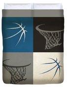 Timberwolves Ball And Hoop Duvet Cover