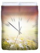 Time Blurred Duvet Cover