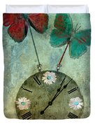 time flies Duvet Cover by Aimelle