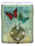 Time Flies Duvet Cover by Aimelle