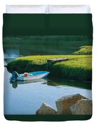 Time For Fishing Duvet Cover