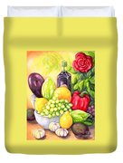 Time For Fruits And Vegetables Duvet Cover